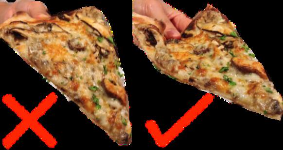 Como a matemática ensina a segurar uma fatia de pizza